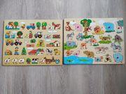 Holzpuzzle Safari und Bauernhof