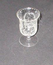 Biedermeier Glas mit Schleifdekor 9