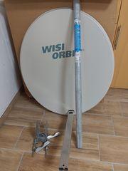 Satschüssel 80cm Quad-LNB Halterung SAT-Finder