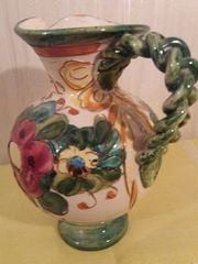 Schön bemalter Tonkrug Keramikvase Vase