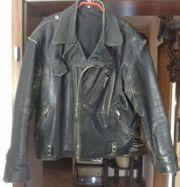 Lederjacke Vintage mit Harley Davidson