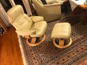 TV Relax Sessel Echtleder Weiß