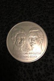 Schwedische 50-Kronen-Silbermünze 1976