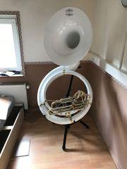 Thomann Bb-Sousaphone MKII Fiberglas mit Ständer -