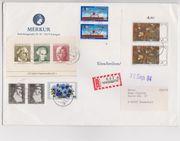 R-Brief mit 10 Sonderbriefmarken v