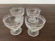 4 Eisbecher aus Glas