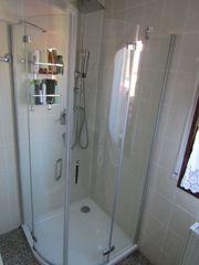 Duschkabine Runddusche Dusche Echtglas Viertelkreis