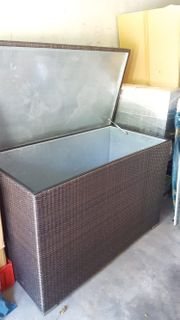 Outdoor Kissenbox Rattan - allerbester Qualität
