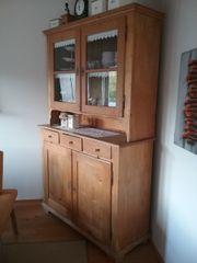 schöner antiker küchenschrank massiv Kiefer