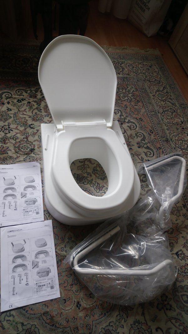 toilettensitz Erhöhung mit Armlehnen