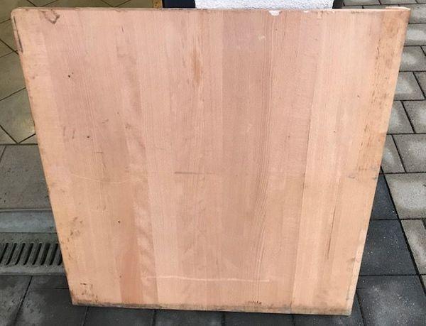 Buchenplatte Vollholz Massiv 85x80x4