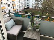 Gemütliche Balkonmöbel 3er Set - Rattan