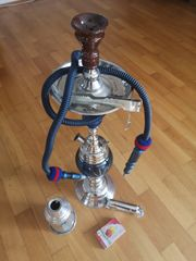 Große Marokkanische Shisha blaues Glas
