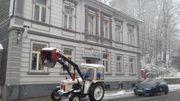 Prächtiger englischer Traktor Trecker Schlepper