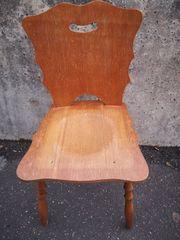 Alter Stuhl Brettstuhl Wirtshausstuhl