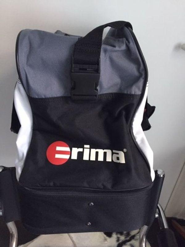 NEUE erima Sporttasche mit Boden-Schuhfach schwarz-grau-weiß