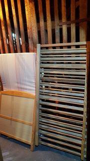 Gitterbett mit Matratze 70x140 cm