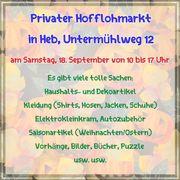 Privater Hofflohmarkt in Hersbruck am