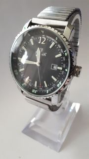 Military-Uhr Armbanduhr Quarzuhr Herrenuhr Metall-Stretcharmband