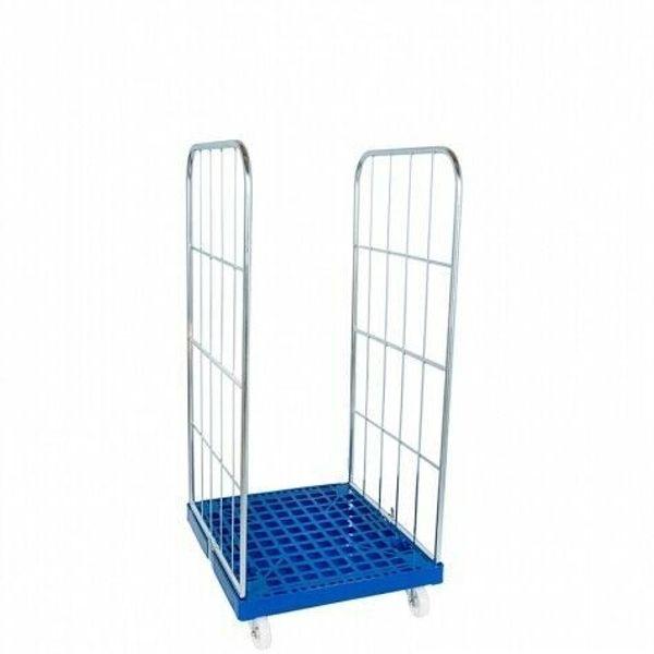 Gittercontainer Gitterrolli 2 Seitig Kunststoffboden