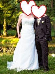 Elegantes Brautkleid, ivory,