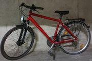 Campus 28-Zoll Trekking-Bike Ferrarirot
