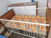 Babybett Wickelkomode Set