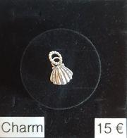 Echt Silber Charm Muschel