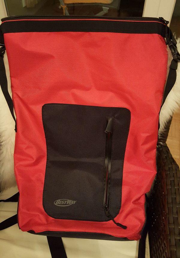 Rucksack rot schwarz