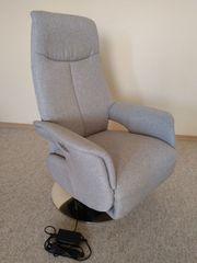 Relax-Sessel elektrisch verstellbar Fußstütze und