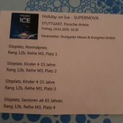 Holiday on ice 4 Tickets