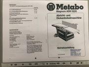 Abricht- und Dickenhobelmaschine Metabo ADH