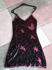 Abendkleid schwarz mit Glitzer Gr