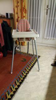 Hochstuhl Ikea mit Tischchen und