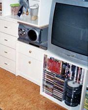 TV-Gerät und DVD-Player silber günstig