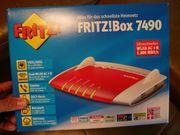 Fritzbox 7490 mit komplettem Zubehör