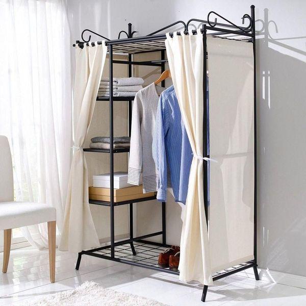 Kleiderschrank Garderobenschrank Aus Metall Im Landhausstil In
