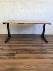 Steelcase Schreibtisch 160x80 Buche schwarz