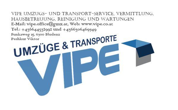 VIPE Umzug Transport Reinigung Vermittlung