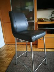 Tresenstuhl -stühle Edelstahl- Lederpolster