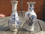 Vasen - 2 Stück - Weiß Blau