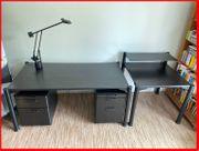 Komplettes Büro 2x Schreibtische 2x