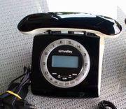 SIMVALLEY Retro-DECT-Schnurlostelefon m Anrufbeantw