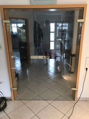 Glastür Doppeltür inkl Beschläge ohne