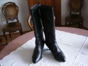 Damen Leder-Stiefel schwarz Hash Pappis