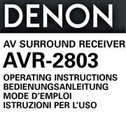 DENON AVR-2803 BEDIEN-Anleitung-MANUAL-Guide 4 Sprachen