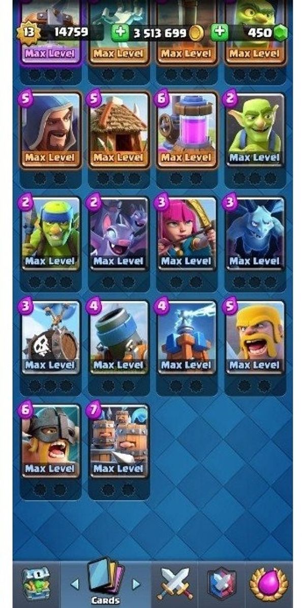 Clash Royal Account maxed out