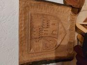 Holzwandbild Grevenbroich Wappen