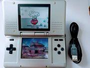 Nintendo DS Konsole silber Spiel
