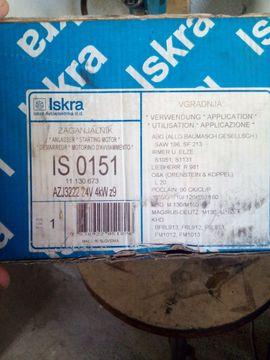 Anlasser Iskra 15130157 IS 0151: Kleinanzeigen aus Freisbach - Rubrik Nutzfahrzeug-Teile, Zubehör